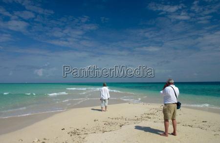 retired couple on holiday in zanzibar