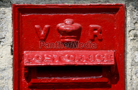 wall mounted post box showing the