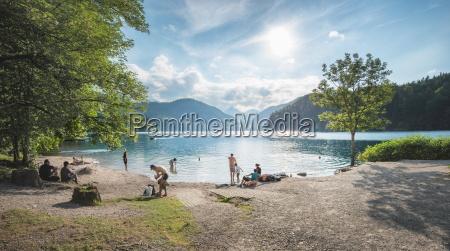 lake alpsee near castle neuschwanstein and