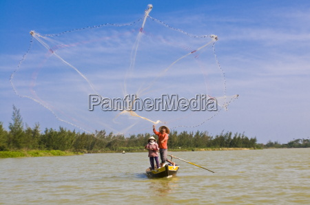 traditional fishing hoi an vietnam indochina