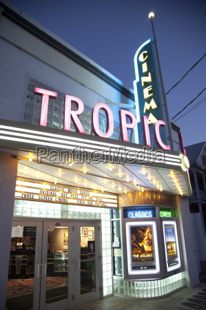tropic cinema an art deco building