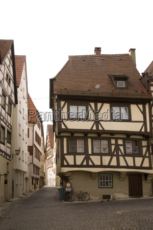 historic half timbered houses typical of