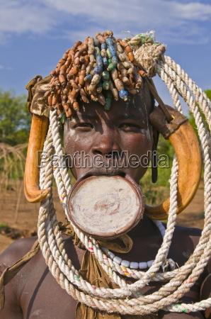 mursi warrior omo valley ethiopia africa