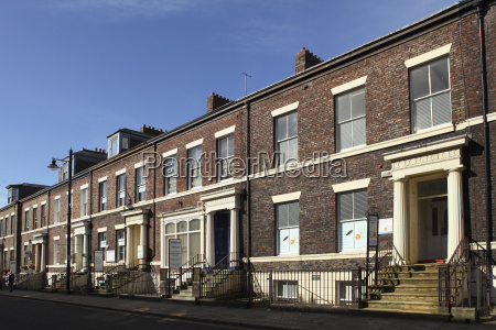 early victorian terraced town houses built