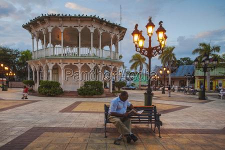 gazebo in central park puerto plata