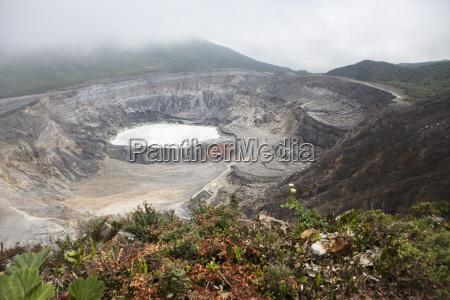 crater of poas volcano in poas