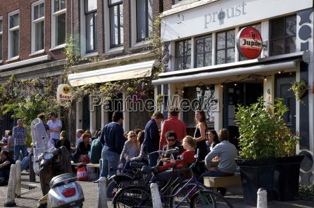 bar with people drinking amsterdam netherlands