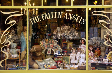 a doll and curiosity shop in