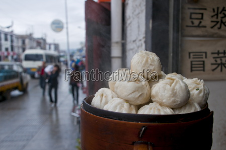 dumplings for sale in a restaurant
