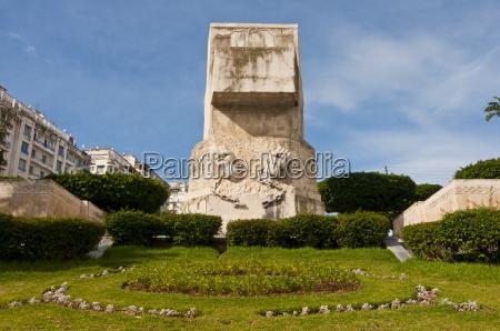 liberation monument on the boulevard khemish