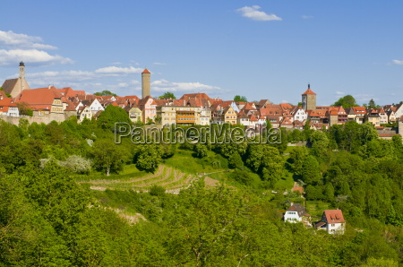 the historic town of rothenburg ob