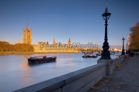 houses of parliament and river thames