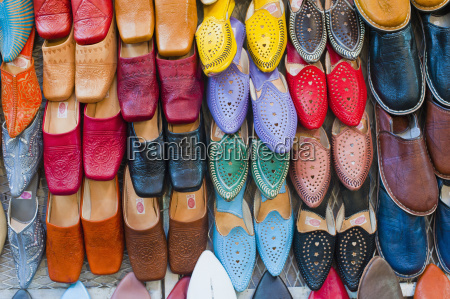 colourful babouche mens leather slippers for