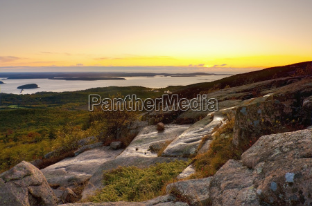view from cadillac mountain acadia national
