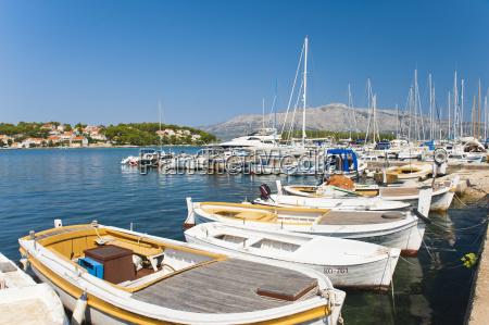 lumbarda harbour korcula island dalmatian coast