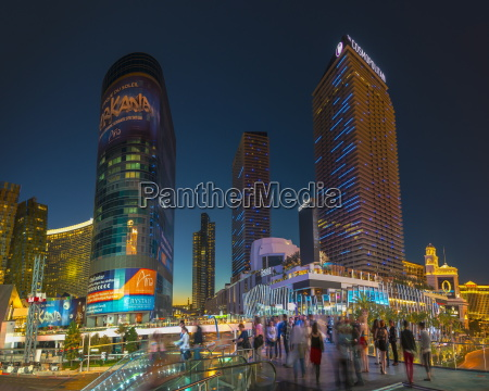 the cosmopolitan on right and citycenter