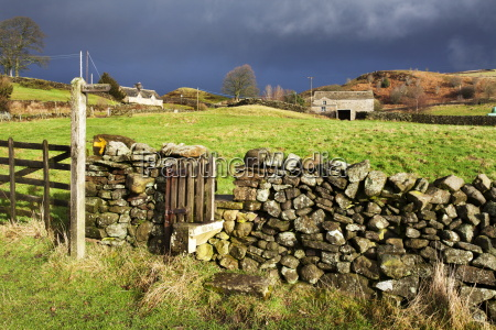 stile in a dry stone wall