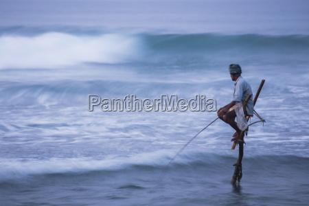 stilt fishing a stilt fisherman in