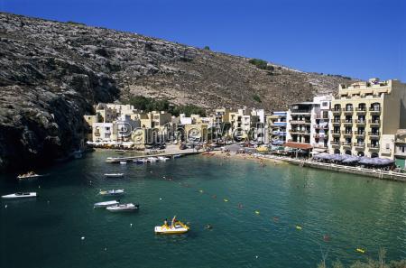 view over bay xlendi gozo malta