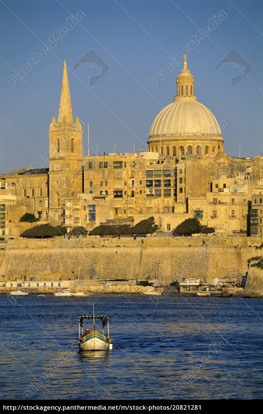 view, at, sunset, to, valletta, with - 20821281