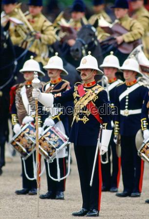 royal marine band play during a
