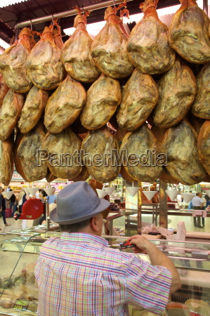 mercado central central market stall selling