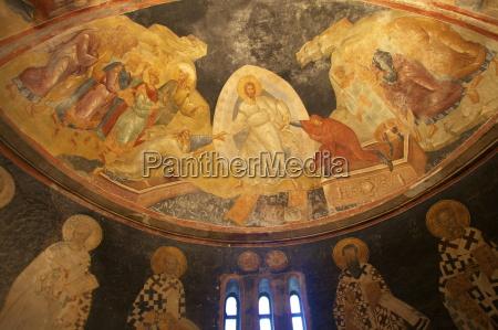 anastis fresco interior of church of