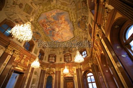 interior of belvedere palace unesco world