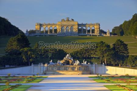 gloriette and french garden schonbrunn palace