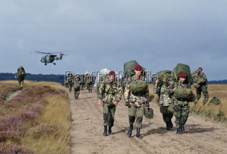 british parachutists on the 50th anniversary