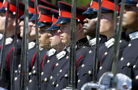 officer cadets at the passing out