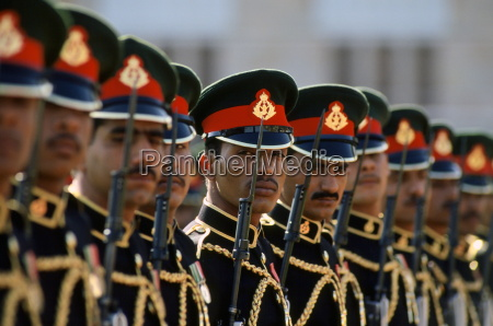 royal palace guard standing to attention