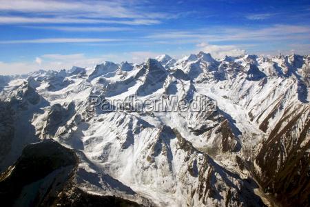 snow covered peaks of karokoram mountains
