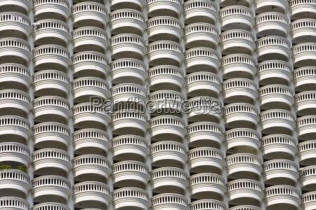 balconies of a bangkok apartment block