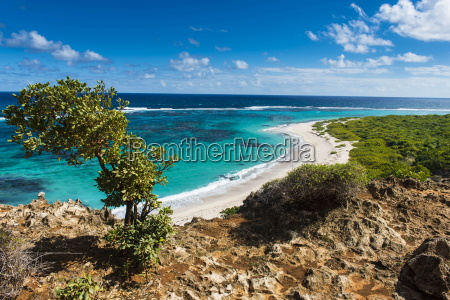 view over the turquoise waters of