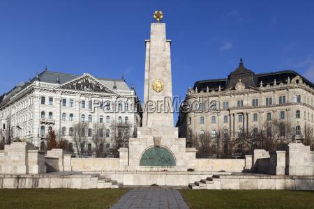soviet obelisk commemorating liberation of city