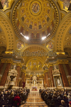 interior and dome st stephens basilica