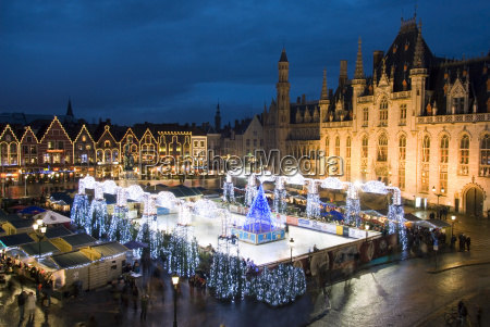 ice rink and christmas market in