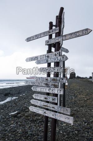 worldwide signpost heyk arctowski polish antarctic