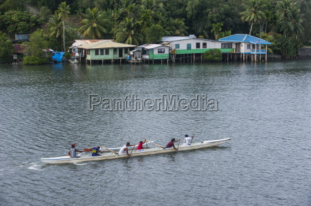 local people training for the rowing