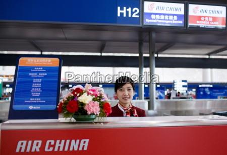 air china check in desk terminal