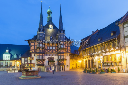 market square and town hall at
