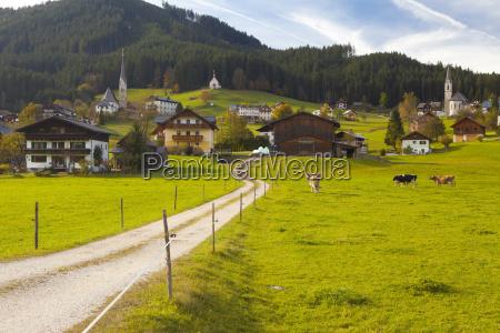 gosau salzkammergut austria europe