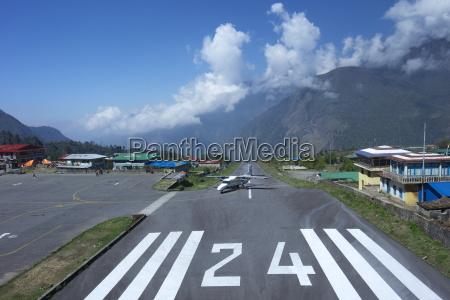 sita air dornier 228 airplane landing