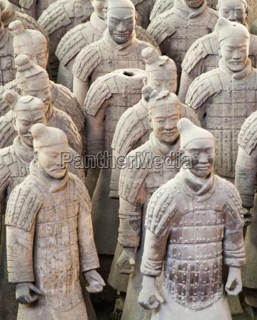 terracotta warrior figures in the tomb