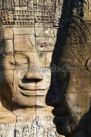 detail of sculpture bayon temple dating