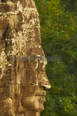 close up of sculpture bayon temple
