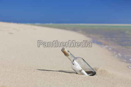 message in a bottle at the