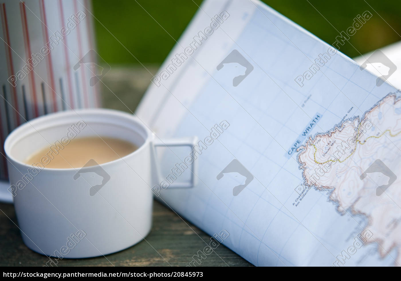tea, and, walkers, map, with, flask, - 20845973