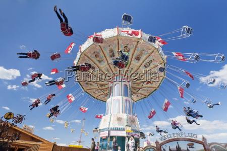 swing carousel cannstatter wasen volksfest stuttgart